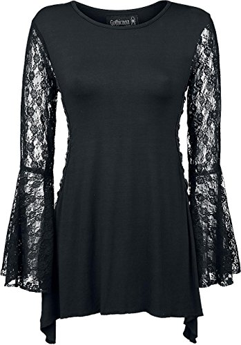 Gothicana by EMP Angel Sleeve Shirt Manica lunga donna nero XXL