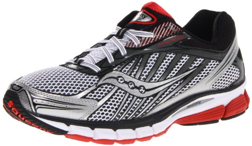 Saucony Ride 6 Running shoes white/silver/black/red, White / Red / Black, 13 UK