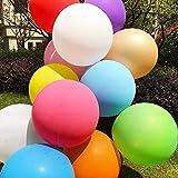 Globos Grandes, Comius 10 Piezas 90 cm de látex Gigante Globos de Colores para Fiesta cumpleaños Bodas Bautizo graduación Navidad Carnaval Celebraciones