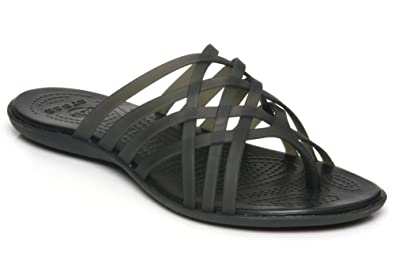 a1c141963220 Crocs - Huarache Flat Slippers - 14122  Amazon.co.uk  Shoes   Bags