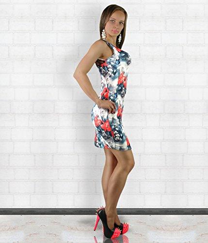 Generic - Robe - Robe d'été - Sans Manche - Femme Floral / Gray