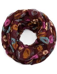 style3 Damen Loop-Schal Marilyn mit Lippen-Muster in verschiedenen Farben