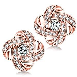 Alex Perry Satelliten Serie 925 Sterling Silber Ohrstecker Ohrringe Damen mit 5A Zirkonia, Gold Plattiert, Geschenke für Sie, Allergenfrei Nickelfrei, Bestanden SGS Test