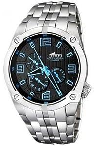 Reloj Lotus 15679/3 de caballero de cuarzo con correa de acero inoxidable plateada - sumergible a 50 metros de Lotus