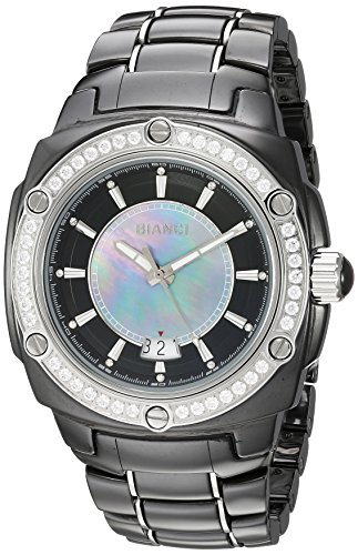 ROBERTO BIANCI WATCHES Women's 'Classico' Swiss Quartz Ceramic Casual Watch, Color:Black (Model: RB26900)