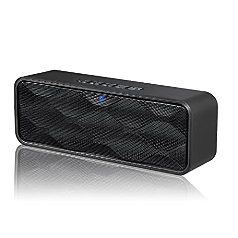 ZOEE Bluetooth Stereo Speaker with HD Audio, Enhanced Bass, FM Radio & Built-in Mic, TF Card Slot, Dual-Driver Wireless Speaker with Low Harmonic Distortion and Superior