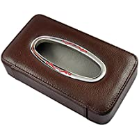 car tissue box/ pelle appesi tessuto box auto/Sun visor car