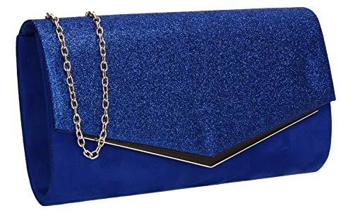 Swankyswans Janey Clutch, glänzend, Umschlag, Blau - königsblau - Größe: Einheitsgröße (Britische Hat Royal Navy Die)