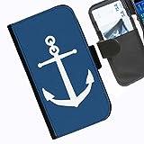 Hairyworm- Nautisch Seiten Leder-Schützhülle für das Handy Sony Xperia M2