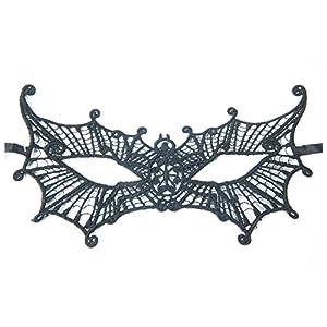 Zoelibat 97306441.008-Plástico Máscara Veneciana, talla única adultos, Negro