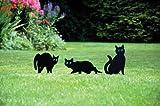 Gablemere Greenhurst Set of Three Weatherproof Metal Cat Scarers
