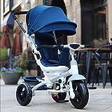 WF-BIKE Babyfahrrad Kinder Dreirad Fahrrad/Trolley Kinderwagen Buggy/Sitz kann um 360 Grad gedreht werden