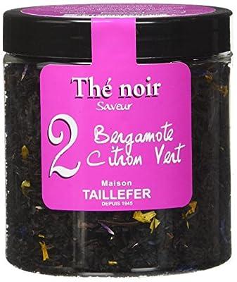 Maison Taillefer Thé Noir Bergamote Citron Vert Pot 60 g - Lot de 4