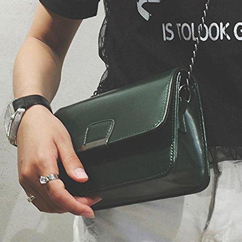 BZLine® Frauen Leder Handtasche Umhängetasche Schultertasche Tote Bag, 20*13*7cm Grün
