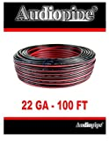 Best Audiopipe Car Speakers - 22 GA Gauge Red and Black Speaker Wire Review