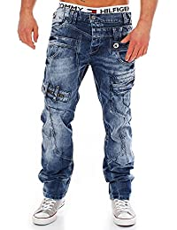 Cipo & Baxx Herren Jeans CD119 Straight-Cut