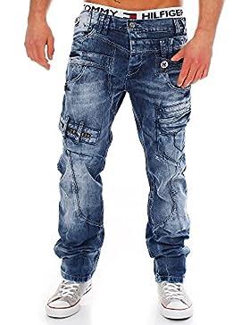 Cipo & Baxx Herren Jeans CD119 Straight-Cut