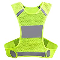 Biqing Hi Vis Vest, High Visibility Vest Hi Viz Waistcoat Safety Reflective Gear Jacket For Running Cycling Jogging Walking.