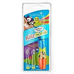 Brush Baby Kidz Sonic Elektrische Zahnbürste, für Kinder, Blau