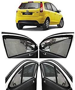 Autofact Magnetic Window Sunshade for ford Figo Old Model for 2008 To 2014 with Zipper - Set Of 4