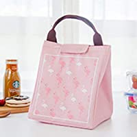 Homava Flamingo Women's Portable Food and Milk Warmer Bag ,(23 X 17 X 27 cm, Multicolor)