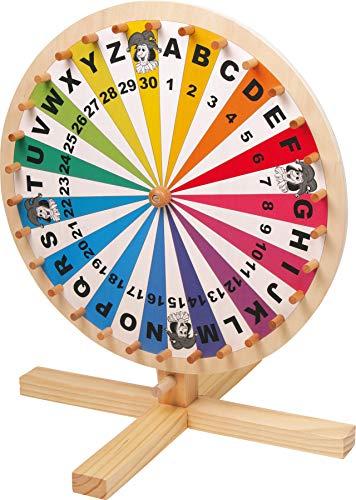"""small foot 6251 Gesellschaftsspiel \""""Glücksrad\"""" aus Holz, für Lotteriespiele, Wortspiele oder Events, ab 5 Jahren"""