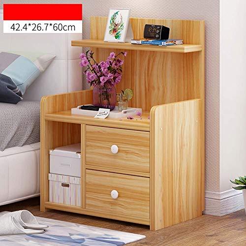 IG Haushalts-Nachttische Mini Wood-Based Panel Nachttisch, mit Schublade und Ablage, Schlafzimmer Locker Nacht Aufbewahrungsbox,#3,42,4 * 26,7 * 60 cm - 3-schubladen-panel