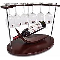 GQFGYYL Mejor Pequeño Estante del Vino con Soporte de Vidrio por Unique/Countertop/de