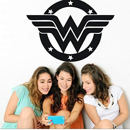 Mhdxmp Wandtattoo Vinyl Aufkleber Wonder Woman Aufkleber Logo Laptop Auto Wand Fenster Aufkleber Justice League Wandbild Home Decoration42 * 30 Cm