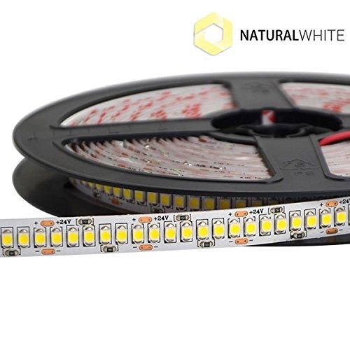 KingLed–LED-Streifen, Classic-Serie, 96W, natürliches Licht–LED-Streifen, homogenes Licht, 17,8W/Meter, 24V, IP20, PCB 10mm, Rolle mit 1200 SMD-LEDs vom Typ 3528, ein Streifen, Artikelnr. 1018 (1200 Natürliche)