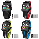 Fitness Tracker Smart Armband, BT V4.0 1,3 Zoll Touchscreen IP67 Wasserdicht Eingebautes 180mAh Batterie Herzfrequenzmessung Blutdruckmesser Multi-Sport Modus Smartwatch für IOS und Android Handy