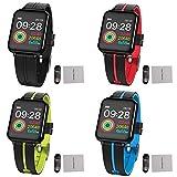 Fitness Tracker Smart Armband, BT V4.0 1,3 Zoll Touchscreen IP67 Wasserdicht Eingebautes 180mAh Batterie Herzfrequenzmessung Blutdruckmesser Multi-Sport Modus Smartwatch für IOS und Android Handy
