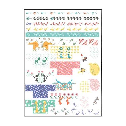 Lindas pegatinas calendario agenda jirafa conejo flor animal Shinzi Katoh