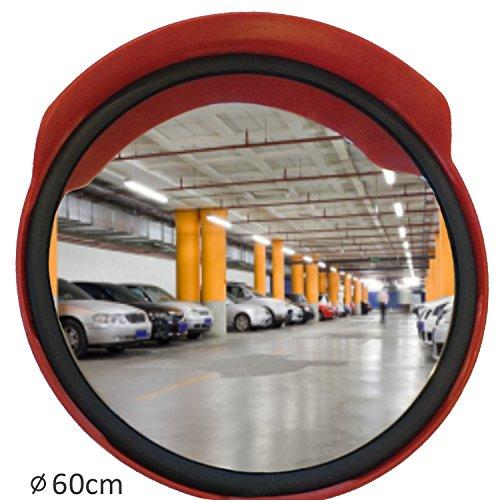 professioneller Verkehrsspiegel mit Dichtung Beobachtungsspiegel Überwachungsspiegel Sicherheitsspiegel Kontrollspiegel, Konvexspiegel 60 cm
