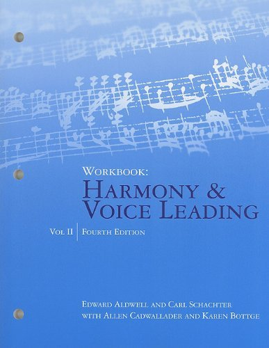 Workbook: Harmony & Voice Leading, Volume II: 2 by Edward Aldwell (27-Apr-2010) Paperback