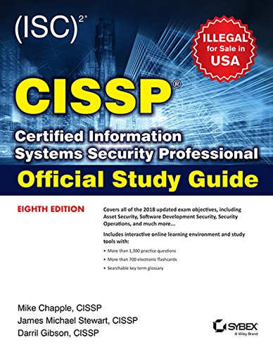 (Isc) 2 Cissp Certified Information Systems Security Professional Official  Study Guide, 8Th Edition [Paperback] Mike Chapple And James Michael Stewart