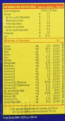 Puleva Leche Infantil Peques 3 Crecimiento con Omega3 - Pack de 6 x 1 l - Total: 6 l