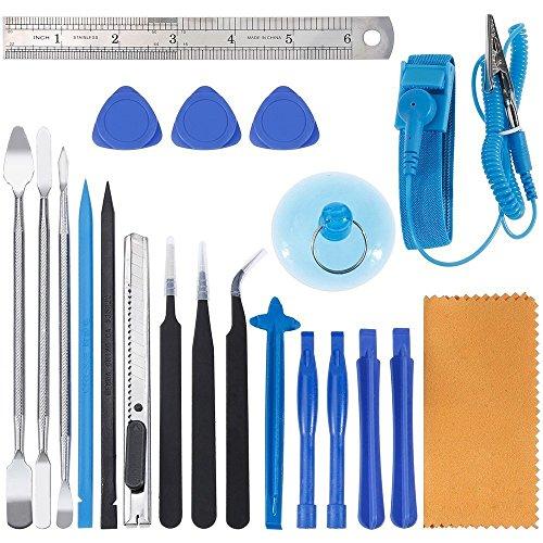Zacro 21 in 1 Öffnungs Werkzeug Opening Pry Tool Kit mit Draht Antistatik Armband (Iphone 3g-armband)