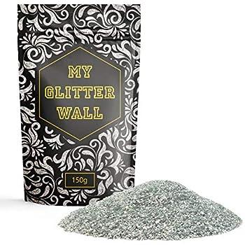 My Glitter Wall Additif Paillettes Pour Peinture émulsion Couleur Argent 150 G Pour Décorations Murales En Intérieur Et En Extérieur