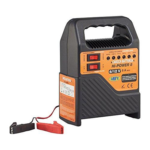 Saife 280230 Carica Batterie Auto e Moto 8Amp 6/12V