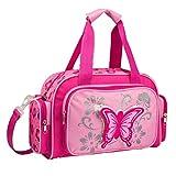 STEFANO Kinder Reisegepäck Schmetterling pink rosa --präsentiert von RabamtaGO®-- (Reisetasche)