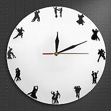 LIUXIAOJIE 1 Pieza Parejas de Danza Reloj de Pared Reloj de Valsa Reloj Icónico Moderno Tango