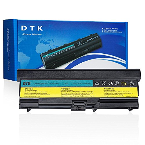 Dtk® Ultra Hochleistung Notebook Laptop Batterie Li-ion Akku für Lenovo Ibm Thinkpad W530 / W530i / L430 / L530 / T430 / T430i T530 / T530i Series notebook Battery (0A36303) (6600MAH-9CELLS) T430 Serie