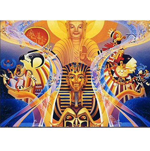 CYKEJISD Malen Nach Zahlen DIY Ägyptischer Pharao Buddha Home Decor Religiös Für Menschen Geschenk Wanddekoration DIY Malerei Auf Leinwand Für Wohnkultur