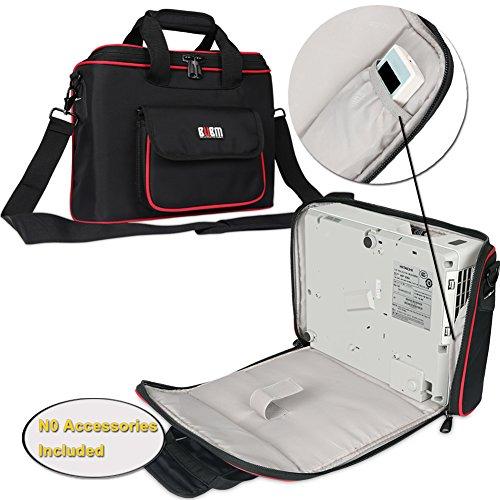 BUBM-Projektor-Tasche, Beamertasche tragbare Tragetasche für Projektor und Zubehör, passend für EPSON / SONY / BenQ / Acer / Hitachi / Panasonic / Optoma, mit Schulterriemen, klein (Baby Bump-monitor)