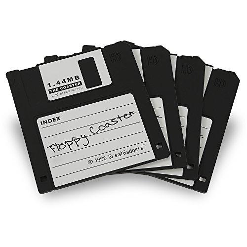 GreatGadgets 1889-1 Untersetzer 1.44 MB Floppy Diskette (4x Schwarz)