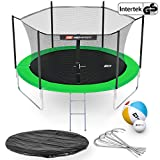 Hop-Sport Gartentrampolin Outdoor Trampolin 244, 305, 366, 430, 490 cm Komplettset inkl. Innennetz...