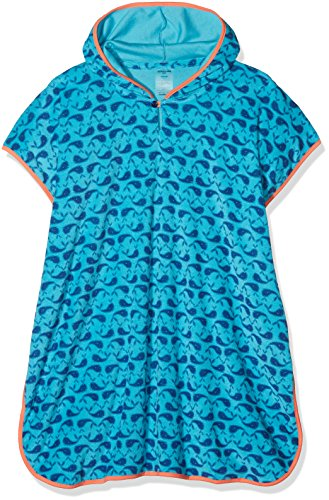 Preisvergleich Produktbild Schiesser Jungen Bademantel Wal Willy Poncho, Blau (Türkis 807), 140