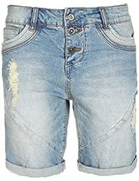 Fresh Made Boyfriend Jeans | Jeans-Shorts Used Look für Damen - Top Qualität und Tragekomfort dank hohem Baumwollanteil