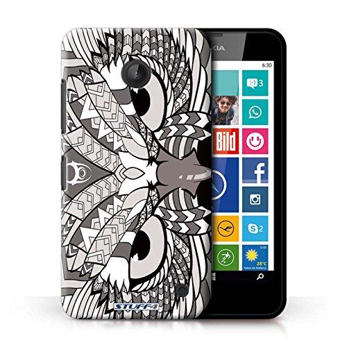Kobalt® Imprimé Etui / Coque pour Nokia Lumia 635 / Tigre-Mono conception / Série Motif Animaux Aztec Hibou-Mono